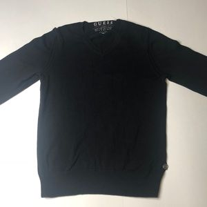 Guess V-neck Black sweater Small